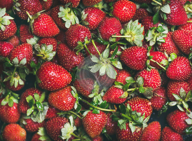 Fresh strawberry texture, wallpaper and background
