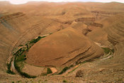 Horseshoe-shaped canyon in the Dades Gorges