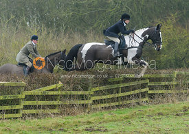 Hilary Butler jumping a hedge at Town Park Farm