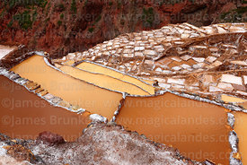 Salt evaporation ponds and terraces at Las Salineras, Maras, near Cusco, Peru
