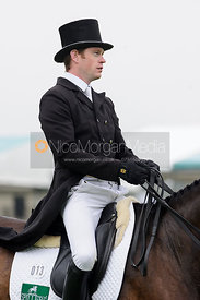 Angus Smales and BALLYVOONEY - dressage phase,  Land Rover Burghley Horse Trials, 4th September 2014.