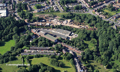 Hooley Bridge Mill Heywood Greater Manchester from the air