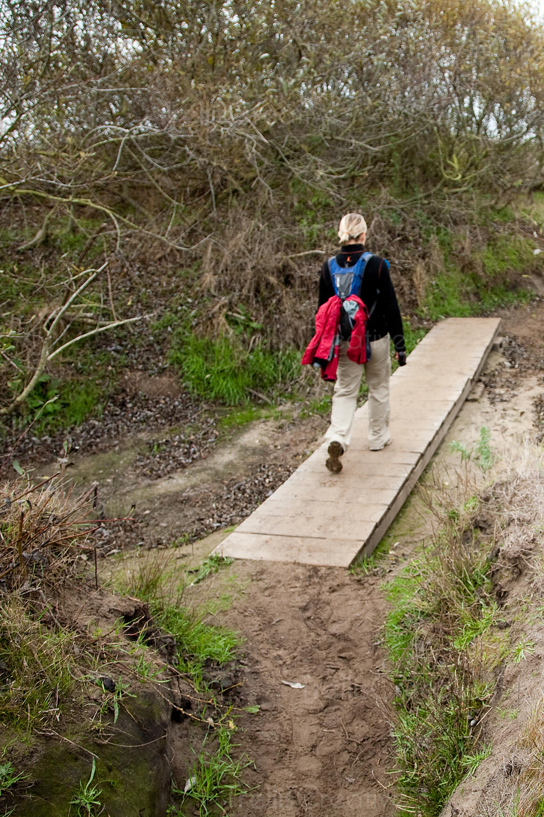 woman hiking at Ano Nuevo State Reserve, California