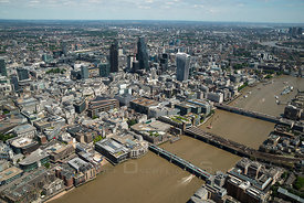 London Southwark and Downtown City and Bridges England