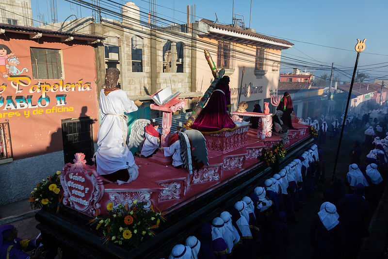 Float During Semana Santa Parade
