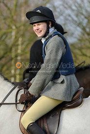 Alice Freeman at the meet in Morborne, 23/1