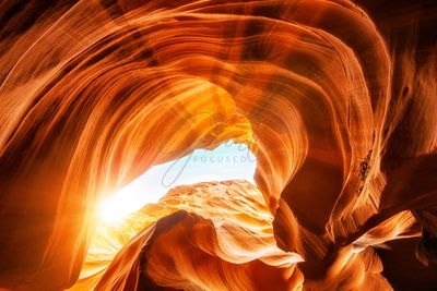 Sunshine In Antelope Canyon Opening