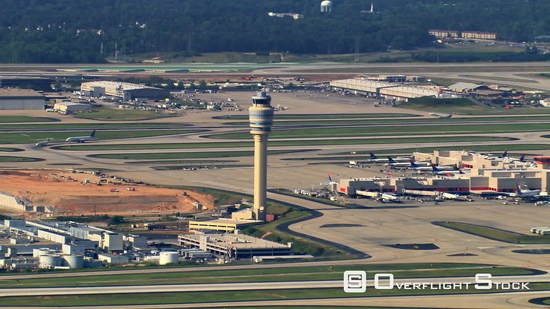 Aerial view of Hartsfield-Jackson Atlanta International Airport.