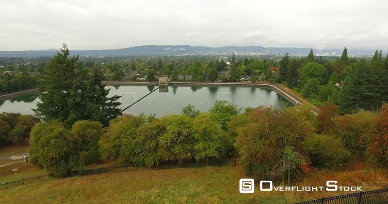 East Portland Residential Neighbourhood near Tabor Reservoir Oregon