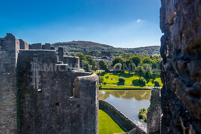 Countryside From Caerphilly Castle- Caephilly, Wales