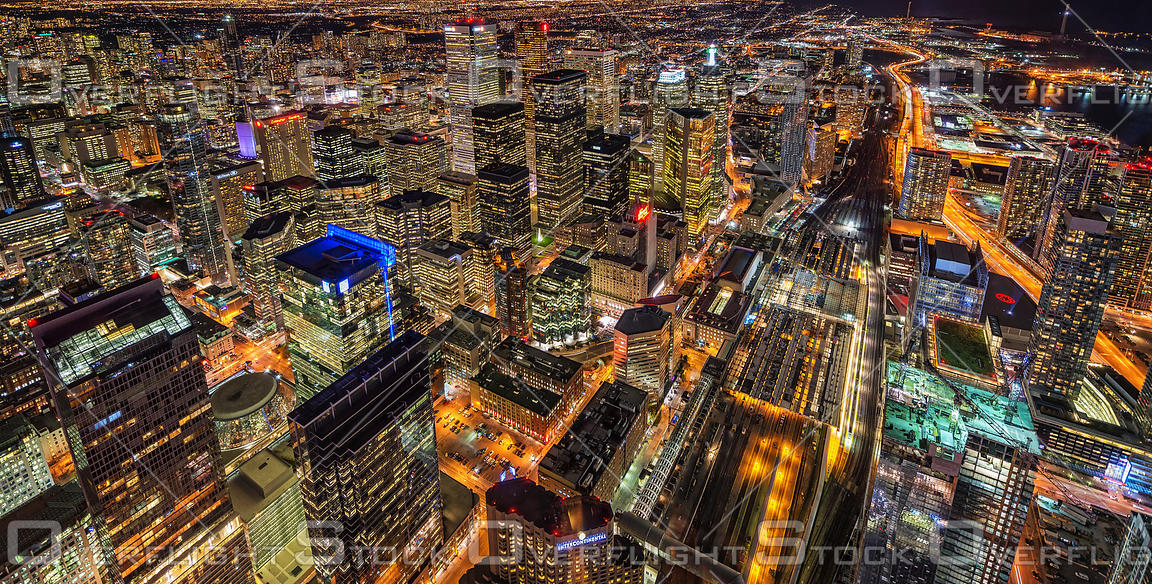Toronto Ontario Night Skyline