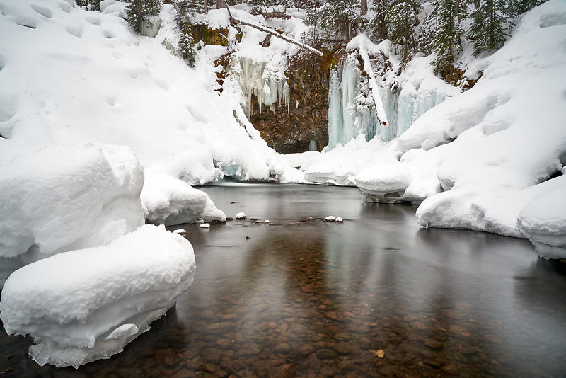 Grotto Falls Winter