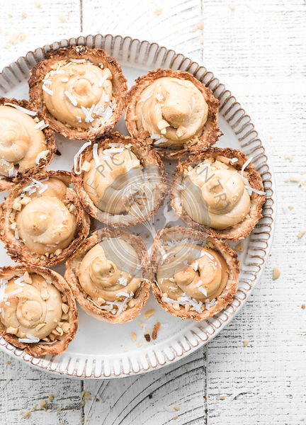Cashew Butter Filled Coconut Cups