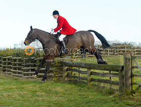 Nicholas Leeming jumping a hunt jump at Hill Top Farm