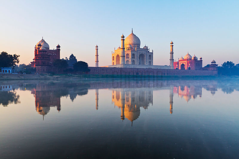 Reflection of the Taj Mahal in the Yamuna River