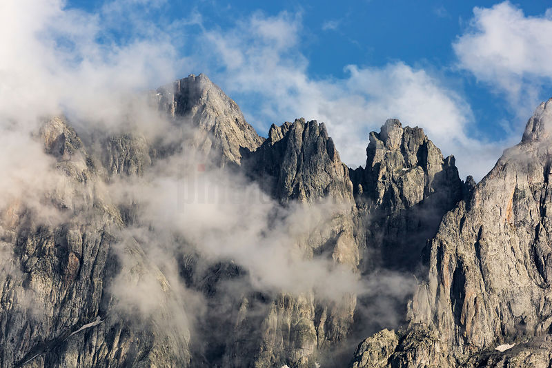The Seven Peaks of Mt Chaukhi in the Sno Valley