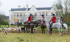 The Cottesmore Hounds at the meet - The Cottesmore Hunt at Belton-in-Rutland 21/12