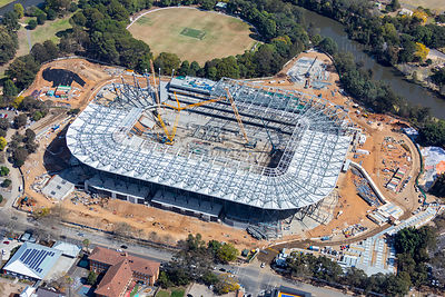 Western Sydney Stadium Construction