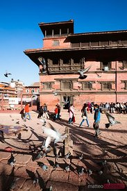 Local people in the streets of Patan, Nepal