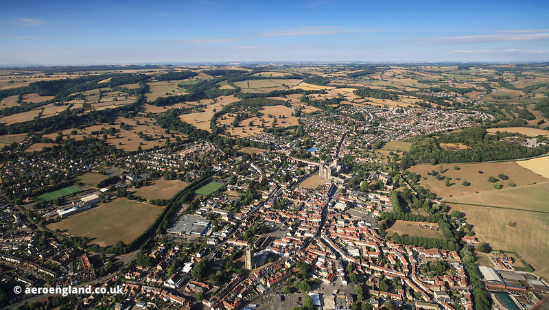 Wells Somerset aerial photograph