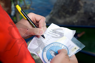 writing Fishing License