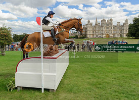 Pippa Funnell and REDESIGNED - cross country phase,  Land Rover Burghley Horse Trials, 7th September 2013.
