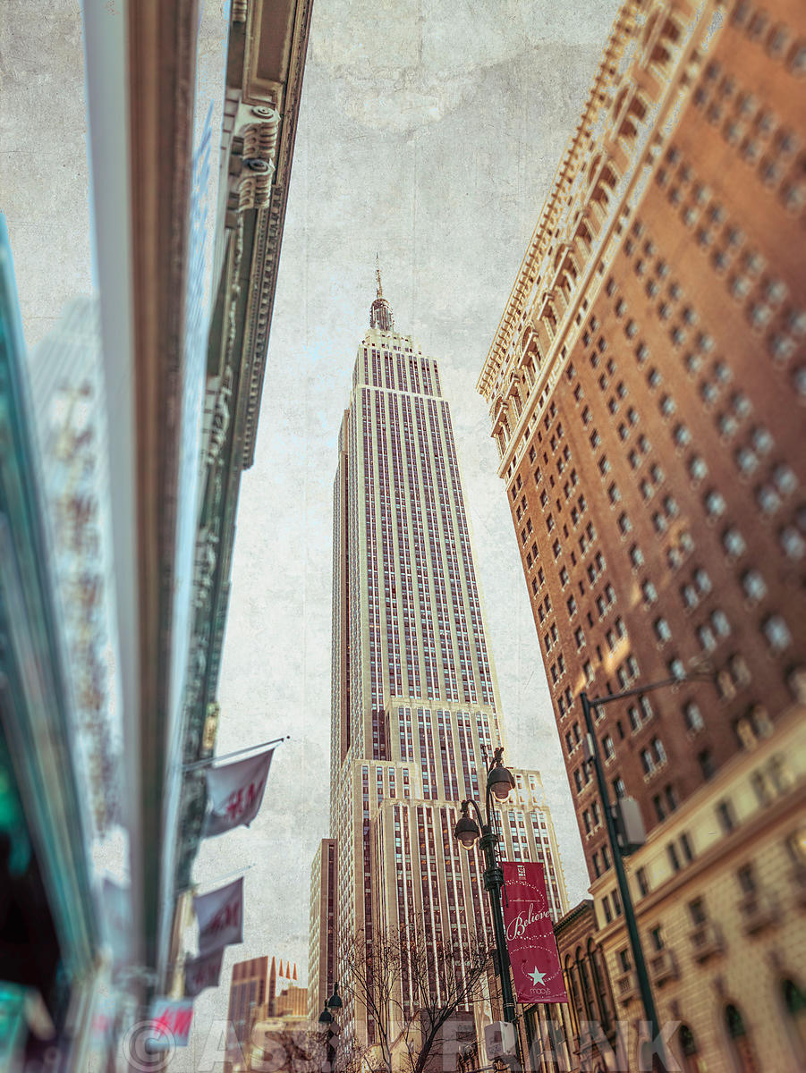 Low angle shot of a Empire State building - New York