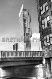 Albion Street Bridge & The Hilton Hotel (Monochrome)