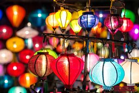 Typical paper lanterns at night, Hoi An, Vietnam