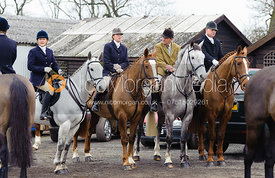 Members of the field at the meet at Ladywood Lodge