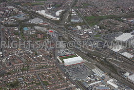 Crewe railway Station and Alexandra Stadium