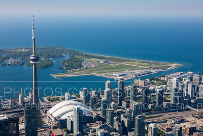 Billy Bishop Airport and CN Tower