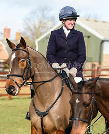 Nicola Wilson at the meet. The Cottesmore Hunt at Newbold Farm 16/2