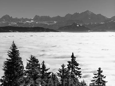 Mountains above clouds