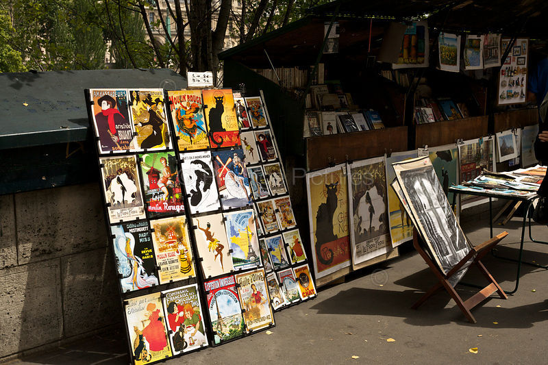 Magazines and Prints for Sale at an Open Air Stall