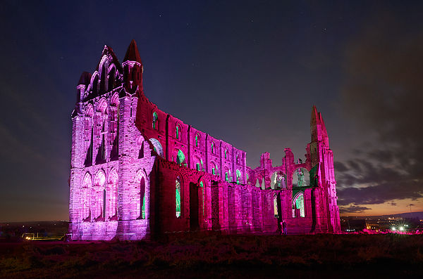 Whitby Abbey Illuminations 2017 photos