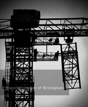 Crane under construction, Birmingham, England.