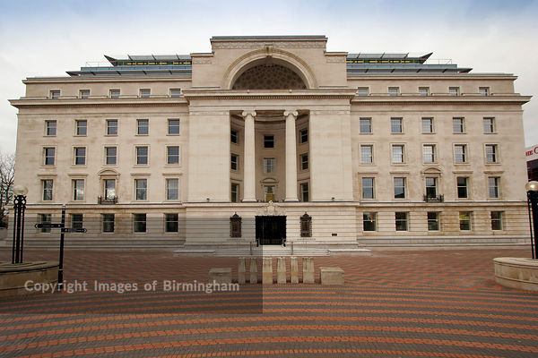 Baskerville House externals, Centenary Square, Birmingham, UK