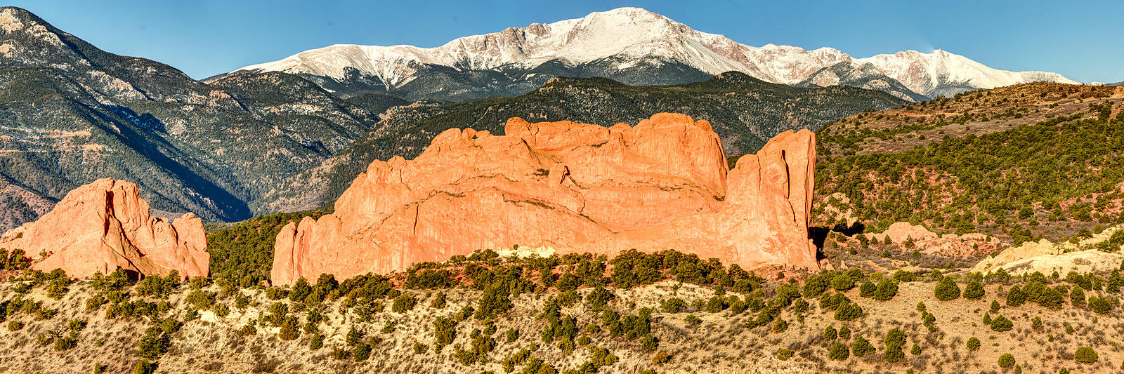 Garden of the Gods Morning Panorama.