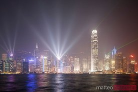 Light show in Hong Kong harbor (Kowloon)