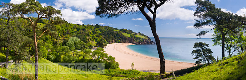 Panoramic view of Blackpool Sands, South Devon (BP1675b)