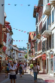 Street view in the old town, St Jean de Luz, France
