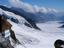 View on Aletsch glacier