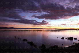 Stones in Lake Titicaca at sunset, Capachica Peninsula, Peru