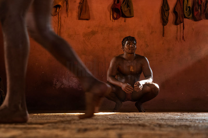 Kushti Wrestler Taking a Break from Training
