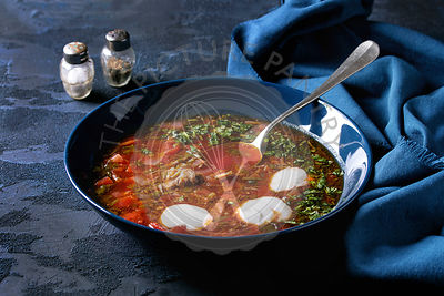 Traditional borscht soup