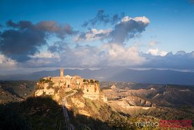 Civita di Bagnoregio at sunset, Lazio, Italy
