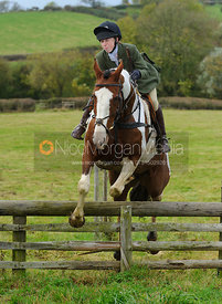Charlotte Bell jumping a hunt jump - The Cottesmore Hunt at Somerby, 2-11-13