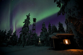 Northern Lights over Pookivaara Hill