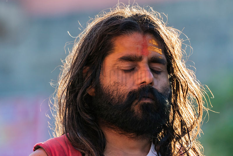 Portrait of a Sadhu in Meditation